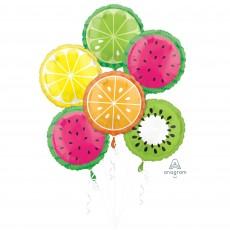 Hawaiian Party Decorations Tropical Fruit Boquet Shaped Balloons
