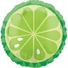 Hawaiian Luau Standard HX Tropical Lime Foil Balloon
