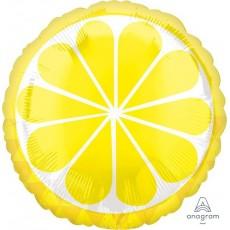 Hawaiian Party Decorations Standard HX Tropical Lemon Foil Balloons