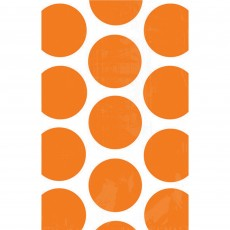 Dots & Stripes Orange Peel  & White Polka Dots Favour Bags