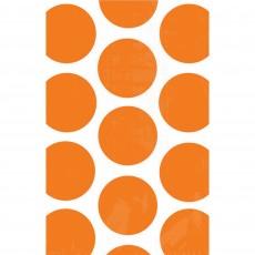 Orange Polka Dots Paper Favour Bags 18cm x 11cm Pack of 10