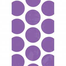 New Purple Polka Dots Paper Favour Bags 18cm x 11cm Pack of 10