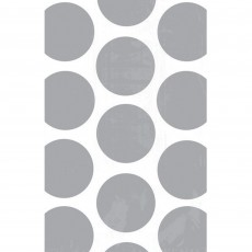 Dots & Stripes Silver & White Polka Dots Favour Bags
