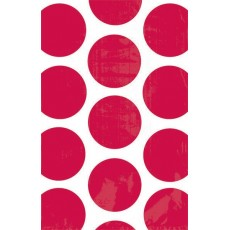 Dots Apple Red Polka  Paper Favour Bags