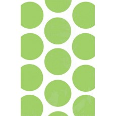 Kiwi Green Polka Dots Paper Favour Bags 18cm x 11cm Pack of 10