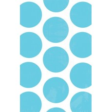 Caribbean Blue Polka Dots Paper Favour Bags Pack of 10