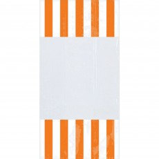 Dots & Stripes Orange Peel  & White Cello Favour Bags