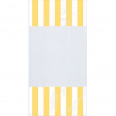 Dots & Stripes White & Yellow Cello Favour Bags