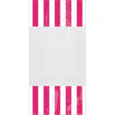Dots & Stripes Bright Pink & White Cello Favour Bags