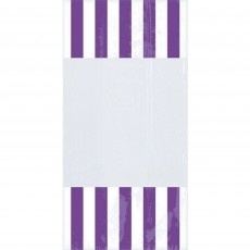 Dots & Stripes Purple & White Cello Favour Bags