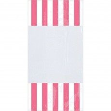 Dots & Stripes Pink & White Cello Favour Bags