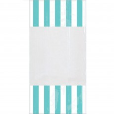 Dots & Stripes Robin's Egg Blue & White Cello Favour Bags