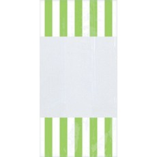Dots & Stripes Kiwi Green, White, Lime Cello Favour Bags