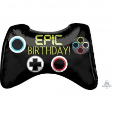 SuperShape Game Controller Epic Birthday! Shaped Balloon 71cm x 45cm
