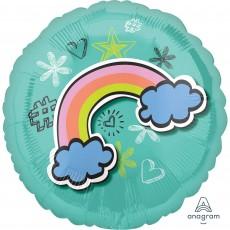 Selfie Celebration Rainbow Standard HX Foil Balloon