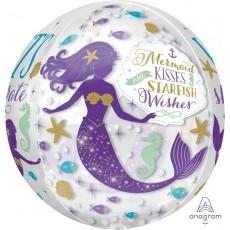 Orbz XL Mermaid Wishes Mermaid Kisses Starfish Wishes Shaped Balloon 38cm x 40cm