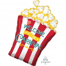 Popcorn Box Disney Mickey Carnival SuperShape Welcome To The Carnival Shaped Balloon 50cm x 73cm