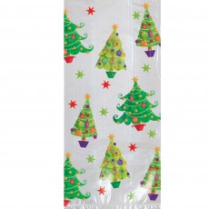 Christmas Party Supplies - Favour Bags Christmas Trees L Cello Loot