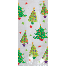 Christmas Trees Small Cello Loot Favour Bags