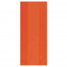 Orange Small Cello Favour Bags 24cm x 10cm Pack of 25