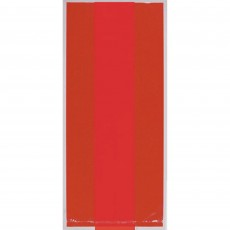 Apple Red Small Cello Favour Bags 24cm x 10cm) Pack of 25