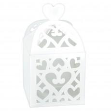 White Lantern Paper Favour Boxes 6.3cm x 6.3cm x 6.3cm Pack of 50