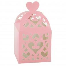 New Pink Paper Lantern Favour Boxes 6.3cm x 6.3cm x 6.3cm Pack of 50