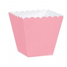 New Pink Scalloped Paper Favour Boxes 5.7cm x 3.8cm x 3.8cm Pack of 100