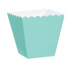 Robin's Egg Blue Scalloped Paper Favour Boxes 5.7cm x 3.8cm x 3.8cm Pack of 100