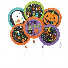 Halloween Family Friendly  Bouquet Foil Balloons