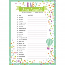 Baby Shower - General Word Scramble & Search Party Games