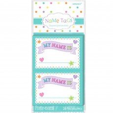 Baby Shower Party Supplies - Name Tags 8cm x 6cm