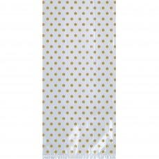 Gold w/Bow Favour Bags 20.9cm x 9.5cm x 2.5cm Pack of 12