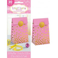 Baby Shower - General Pink Paper Treat Favour Bags