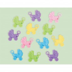 Baby Shower - General Neutral Carriage Favours Pack of 12