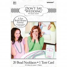 Bridal Shower Don't Say Wedding Party Game