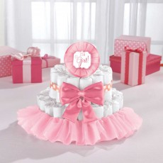 Baby Shower Party Supplies - Deluxe Diaper Cake Kit Pink