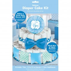 Baby Shower Party Supplies - Deluxe Diaper Cake Kit Blue