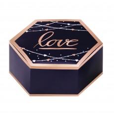 Bridal Shower Navy Bride Love Favour Boxes 8cm x 3cm x 7cm Pack of 8