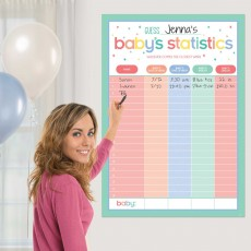 Baby Shower Party Supplies - Party Game Statistics Game
