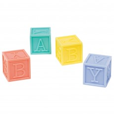 Baby Shower Party Supplies - Favours Multi Coloured Baby Blocks