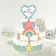 Baby Shower Party Supplies - Neutral Diaper Cake Kit