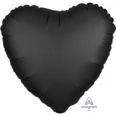 Black Satin Luxe Onyx Standard HX Shaped Balloon
