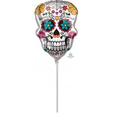 Halloween Day of the Dead Sugar Skull Mini Shaped Balloon