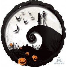 Halloween The Nightmare Before Christmas Jumbo Panoramic Shaped Balloon