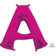 Pink CI: Letter A Shaped Balloon 40cm