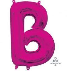 Pink CI: Letter B Shaped Balloon 40cm