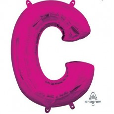 Letter C Pink CI: Shaped Balloon