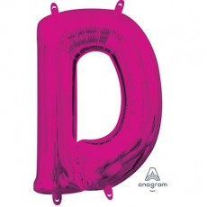 Pink CI: Letter D Shaped Balloon 40cm