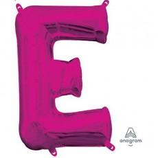 Pink CI: Letter E Shaped Balloon 40cm
